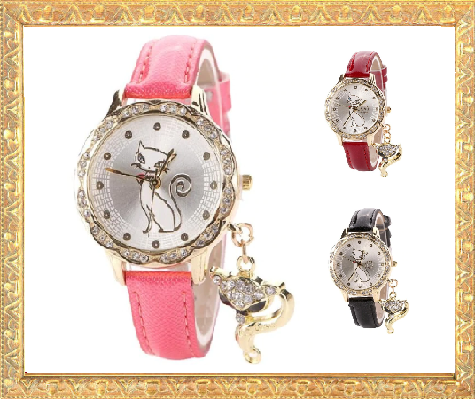 Win 1 of 5 CRYSTAL Cat Watches
