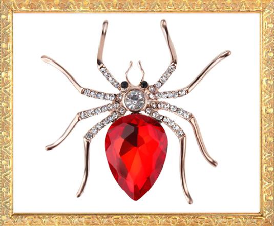 Win 1 of 5 CRYSTAL Spider Brooch Pins!