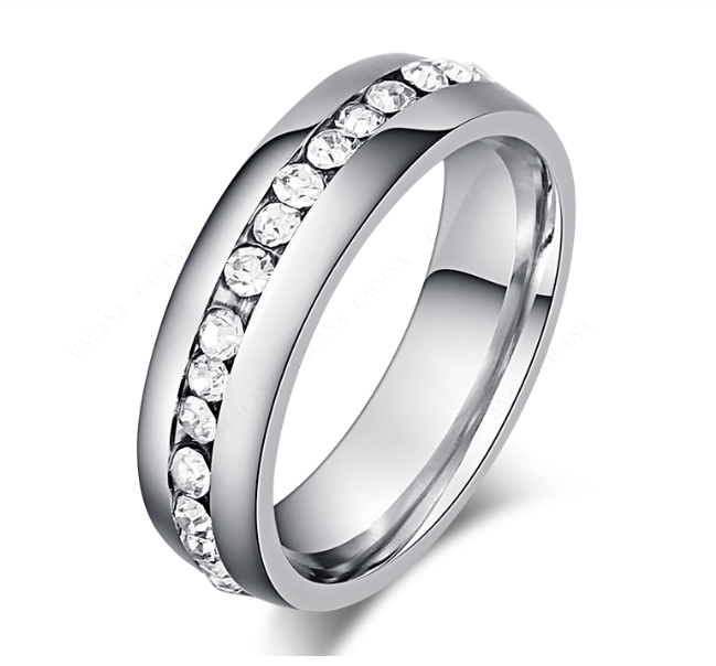 Win 1 of 5 CRYSTAL Stainless Steel RINGS