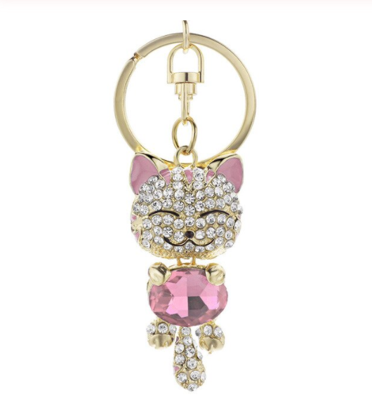 Win 1 of 3 CRYSTAL Cat Keychains