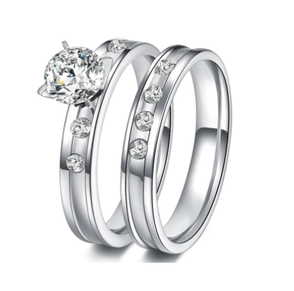 Win 1 of 4 CRYSTAL Stainless Steel RINGS