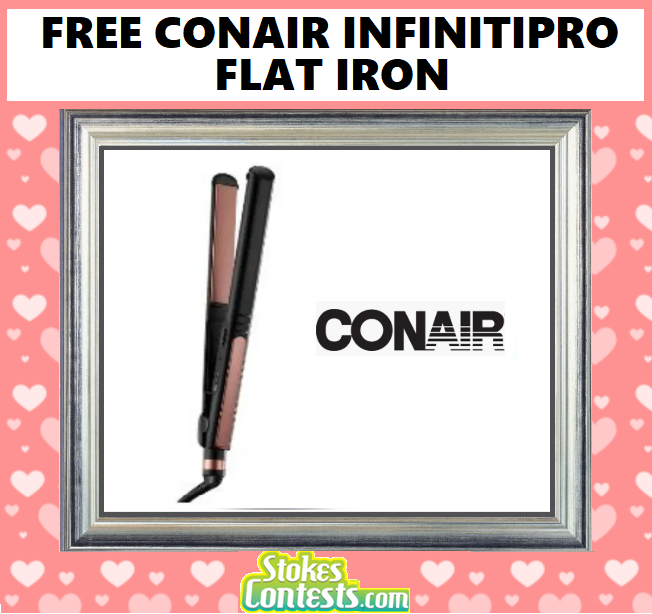 "FREE InfinitiPro by Conair 1"" Luxe Rose Gold Flat Iron"