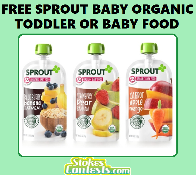 FREE Sprout Organic Toddler or Baby Food