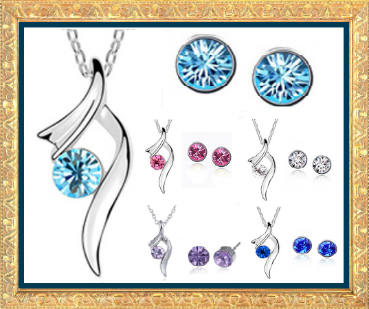 Win 1 of 7 CRYSTAL Necklaces & Earrings Set