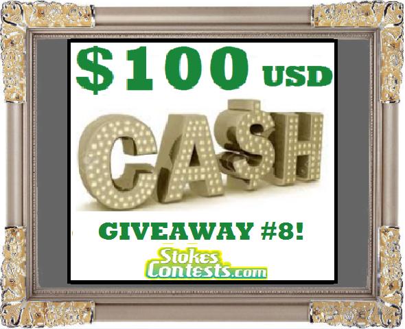 $100 CASH Giveaway #8