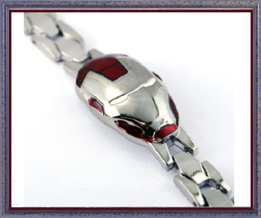 Win 1 of 7 SILVER PLATED IRON MAN Chain Bracelets