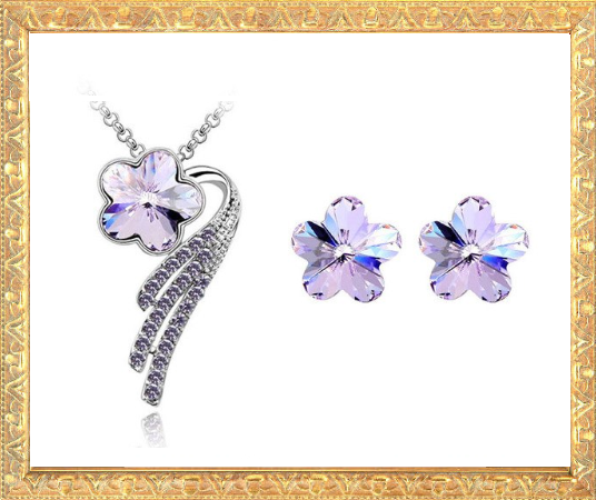 Win 1 of 7 CRYSTAL Flower Jewellery Sets!