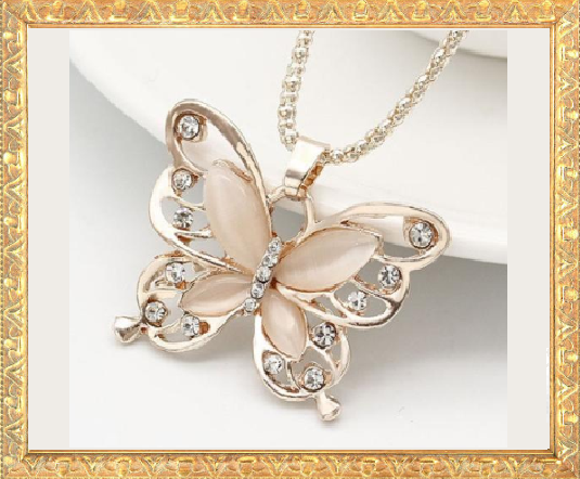 Win 1 of 6 CRYSTAL Butterfly Necklaces