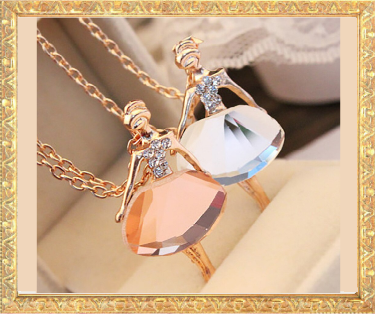 Win 1 of 7 CRYSTAL Ballerina Necklaces