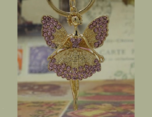 Win 1 of 4 CRYSTAL Fairy Keychains