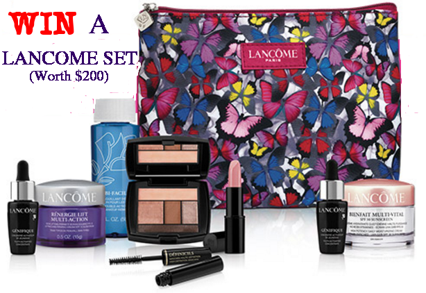 Win a $200 Lancome Gift Package #4 Giveaway